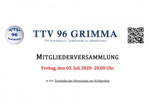 Mitgliederversammlung @ Sporthalle des TTV 96 Grimma